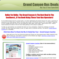 grand canyon bus deals